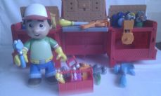 Disney Big Talking 2 in 1 Transforming Red Truck 'Handy Manny' Figure + Talking Tool Set